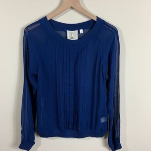 Anthropologie One Fine Day Blue blouse